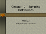 Chapter 10 – Sampling Distributions