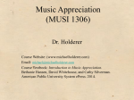 Music Appreciation (MUSI 1306)