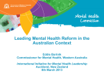 Leading Mental Health Reform in the Australian Context Eddie