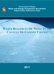water resources of nepal in the context of climate change