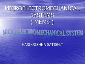 MEMS Micro Electro Mechanical Systems.doc