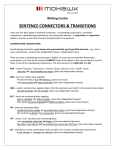 Sentence Connectors and Transitions