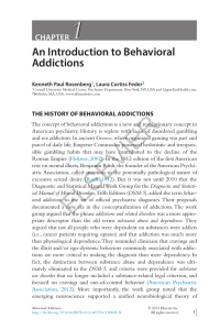 An Introduction to Behavioral Addictions - SciTech Connect