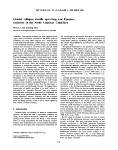 Crustal collapse, mantle upwelling, and Cenozoic extension in the