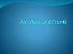 1. Air mass and Fronts