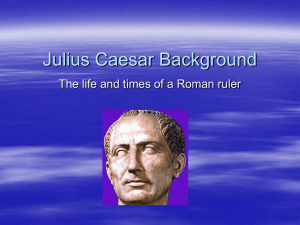 Julius Caesar Background