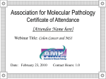 Webinar - Association for Molecular Pathology