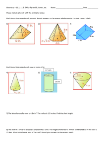11.2-11.3 – Surface area for pyramids, cones, prisms