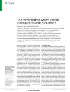 The mirror neuron system and the consequences of its dysfunction