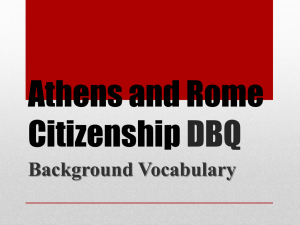Athens and Rome Citizenship DBQ