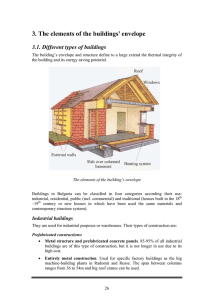 3. The elements of the buildings` envelope