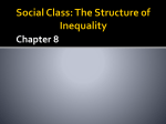 Social class indicated by