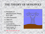 THE THEORY OF MONOPOLY