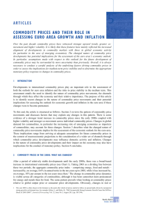 Commodity prices and their role in assessing euro area growth and