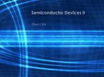 Semiconductor Devices II