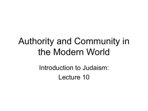 Authority and Community in the Modern World