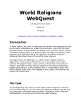 World Religions WebQuest