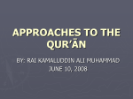 approaches to quran