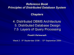 Principles of Distributed Database System 4. Distributed DBMS