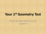 Your 1st Geometry Test