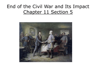 End of the Civil War and Its Impact Chapter 11 Section 5