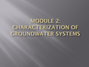 Characterization of Groundwater Systems - AGW-Net