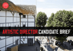 Artistic director candidate brief