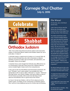 Orthodox Judaism Carnegie Shul Chatter