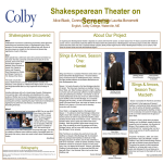 Shakespearean Theatre on Stage