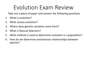 Evolution Exam Review