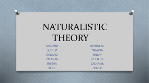 naturalistic theory