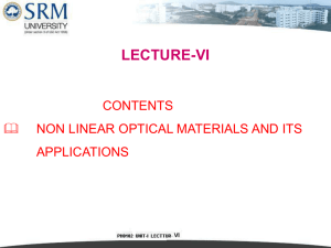 NON-LINEAR MATERIALS Definition