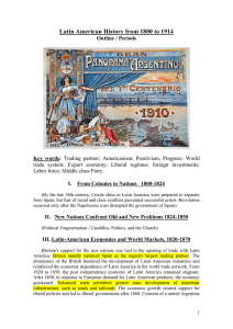 Latin American History from 1800 to 1914