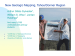 New Geologic Mapping, Tahoe/Donner Region - Earth Science