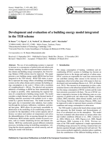 Development and evaluation of a building energy model integrated