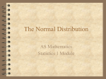 The Normal Distribution - 2July