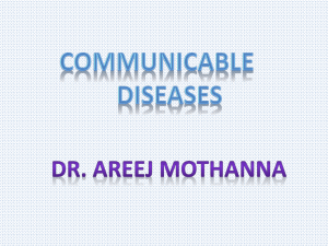 Communicable Diseases Dr. Areej Mothanna