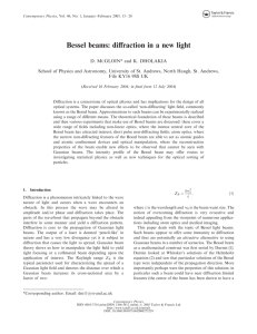Bessel beams: diffraction in a new light