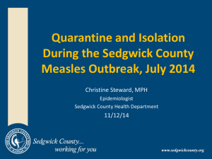 Quarantine and Isolation During the Sedgwick County Measles