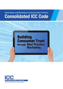 Consolidated ICC Code of Advertising and Marketing