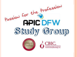 Identification of Infection Disease Processes (18 - APIC-DFW