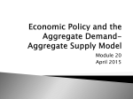 Economic Policy and the Aggregate Demand