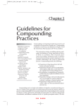 Guidelines for Compounding Practices