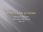 Periclean Athens - AP European History at University High School