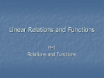 B-1 Relations and Functions
