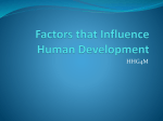 Factors that Influence Human Development