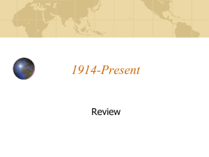 1914-present Powerpoint review