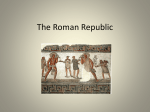 From the Roman Republic to the Roman Empire