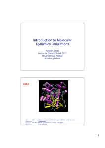 Introduction to Molecular Dynamics Simulations
