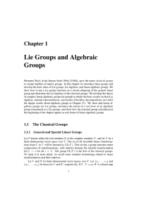 Lie Groups and Algebraic Groups